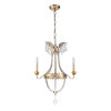 This item: Louis Distressed Silver and Gold Three-Light Chandelier