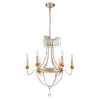This item: Lemuria Distressed Silver and Gold Six-Light Chandelier