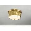 This item: Epsilon Antique Brass Three-Light Flush Mount