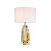 This item: Cognac Clear and Amber One-Light Table Lamp