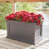 This item: Fairfield Graphite Grey 36 L x 20 W Planter