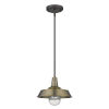 This item: Burry Antique Brass One-Light Outdoor Convertible Pendant