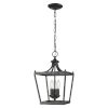 This item: Kennedy Matte Black Three-Light Chandelier
