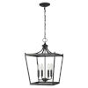 This item: Kennedy Matte Black Four-Light Chandelier