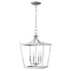 This item: Kennedy Satin Nickel Four-Light Chandelier