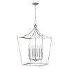 This item: Kennedy Satin Nickel Eight-Light Chandelier