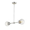This item: Portsmith Polished Nickel Two-Light Pendant