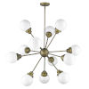 This item: Portsmith Raw Brass 12-Light Chandelier