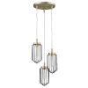 This item: Reece Aged Brass Three-Light Chandelier