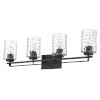 This item: Livvy Oil-Rubbed Bronze Four-Light Bath Vanity