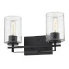 This item: Orella Matte Black Two-Light Wall Sconce
