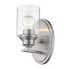 This item: Gemma Satin Nickel One-Light Wall Sconce