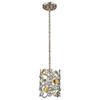 This item: Vitozzi Antique Silver Leaf One-Light Mini Pendant