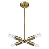 This item: Perret Aged Brass Four-Light Convertible Pendant