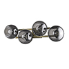 This item: Lunette Aged Brass Four-Light Wall Sconce