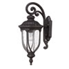 This item: Laurens Black Coral Outdoor Wall Lantern