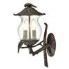 This item: Avian Black Coral Two-Light Wall Lantern