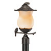 This item: Avian Black Coral Two-Light 18.5-Inch Outdoor Post Mount