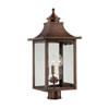 This item: St. Charles Medium Post Lantern with Copper Patina Finish