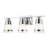 This item: Ethos Chrome Three-Light LED Bath Vanity with Clear Glass