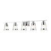 This item: Ethos Chrome Five-Light LED Bath Vanity with Clear Seedy Glass