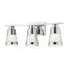 This item: Ethos Chrome Three-Light LED Bath Vanity