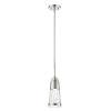 This item: Ethos Brushed Nickel LED Mini Pendant with Chiseled Glass