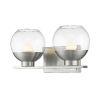This item: Osono Brushed Nickel Two-Light LED Bath Vanity