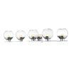 This item: Osono Chrome Five-Light LED Bath Vanity
