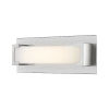 This item: Elara Brushed Nickel 13-Inch LED Bath Vanity