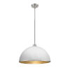 This item: Citadel Hammered White and Brushed Nickel One-Light Pendant