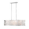 This item: Brushed Nickel Four-Light Pendant with Opal Glass
