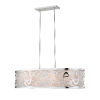 This item: Chrome Four-Light Pendant with Opal Glass