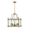 This item: Wyndham Heirloom Brass Five-Light Chandelier With Transparent Glass