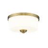 This item: Arlington Heritage Brass Two-Light Flush Mount