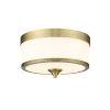 This item: Cosmopolitan Heritage Brass Three-Light Flush Mount