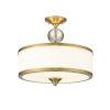 This item: Cosmopolitan Heritage Brass Three-Light Semi Flush Mount