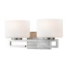 This item: Privet Brushed Nickel Two-Light LED Bath Vanity