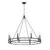 This item: Dennison Matte Black Eight-Light Chandelier