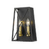 This item: Trestle Matte Black and Olde Brass Two-Light Wall Sconce