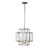 This item: Titania Bronze and Olde Brass 18-Inch Four-Light Pendant