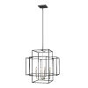 This item: Titania Black and Brushed Nickel 22-Inch Four-Light Pendant