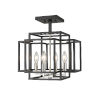This item: Titania Black and Brushed Nickel Four-Light Semi Flush Mount