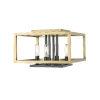 This item: Quadra Olde Brass and Bronze Four-Light Flush Mount