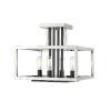 This item: Quadra Brushed Nickel and Black Four-Light Semi Flush Mount
