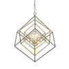 This item: Euclid Olde Brass and Bronze Four-Light Chandelier