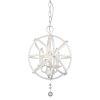 This item: Tull Matte White Three-Light Chandelier