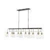 This item: Kraken Matte Black and Olde Brass 10-Light Pendant With Transparent Glass
