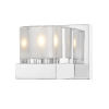 This item: Fallon Chrome One-Light Wall Sconce With Transparent + Frosted Crystal