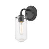 This item: Delaney Matte Black One-Light Wall Sconce With Transparent Glass